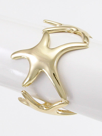 Fashion Metal Starfish Stretch Bracelet