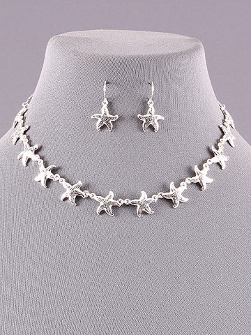 Starfish Link Necklace Set