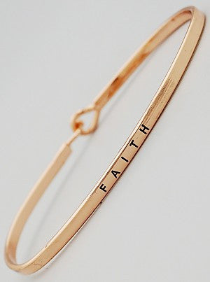 Faith Engraved Bangle Bracelet