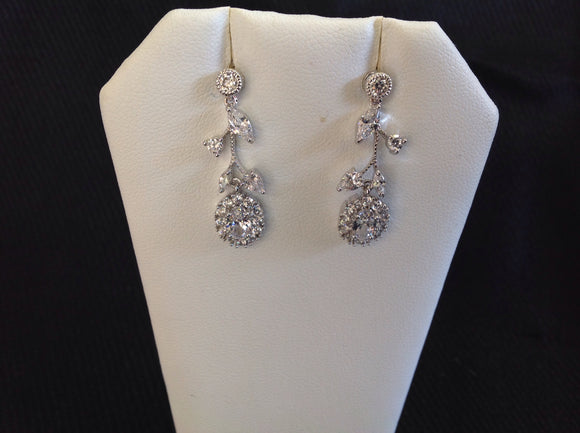 Swarovski Crystal Floral Earrings
