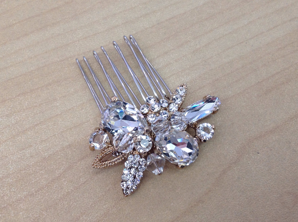 Rhinestone and Crystal Hair Comb