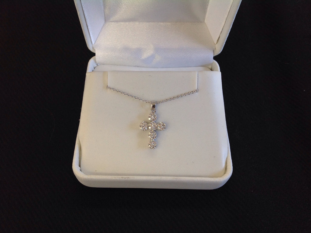 Pave Crystal Sterling Silver Necklace