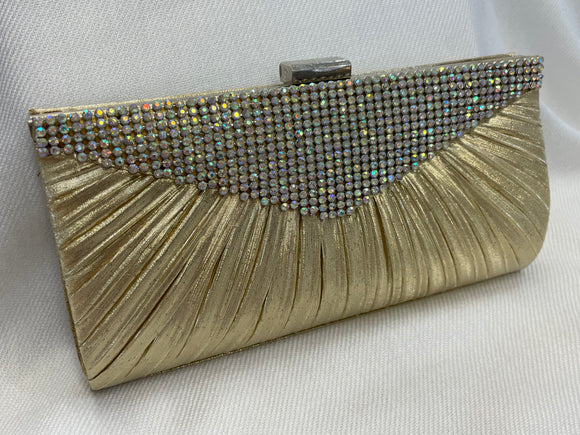 Champagne Gold and AB Rhinestone Clutch