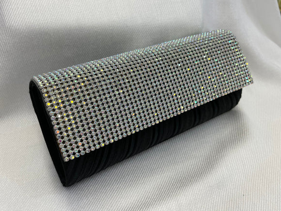 Black and AB Rhinestone Clutch