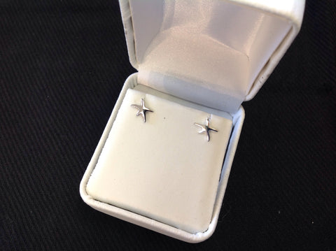 Sterling Silver Mini Starfish Earrings