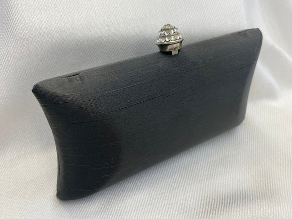 Black and Rhinestone Clutch