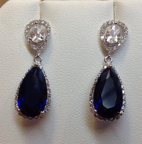 Sapphire Cubic Zircon earrings