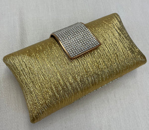 Gold and Rhinestone Clutch