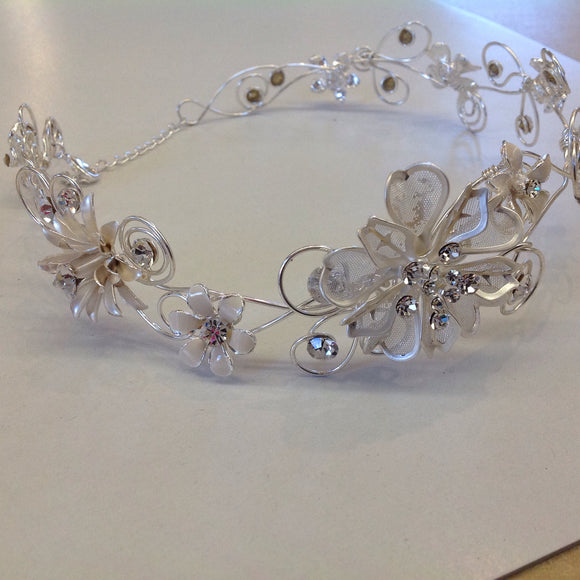 Silver Floral Headband