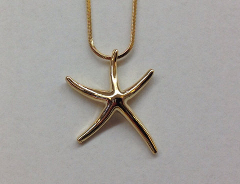 Gold Starfish Pendant necklace