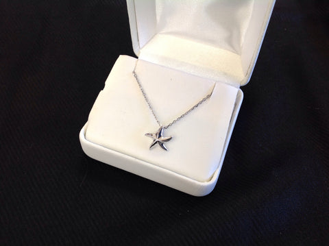 Small Sterling Silver Starfish Necklace