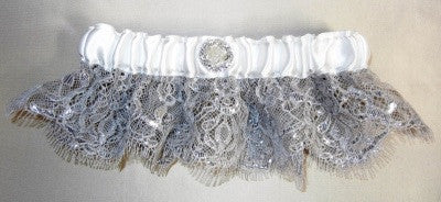 Silver Lace Garter