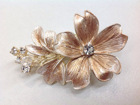 Rose Gold Flower Hair Clip