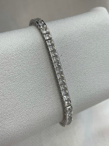 CZ square channel set bracelet