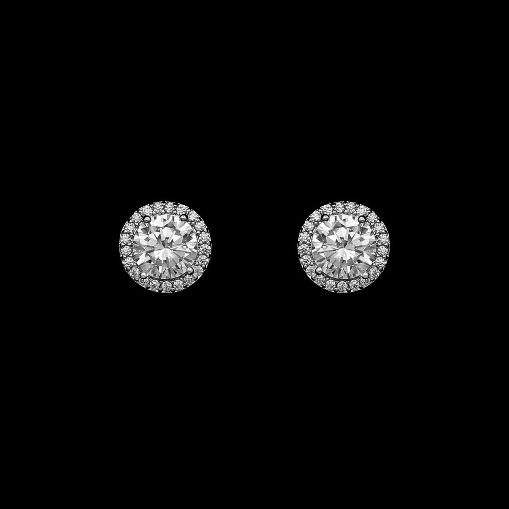 CZ Round Earrings JS-0263