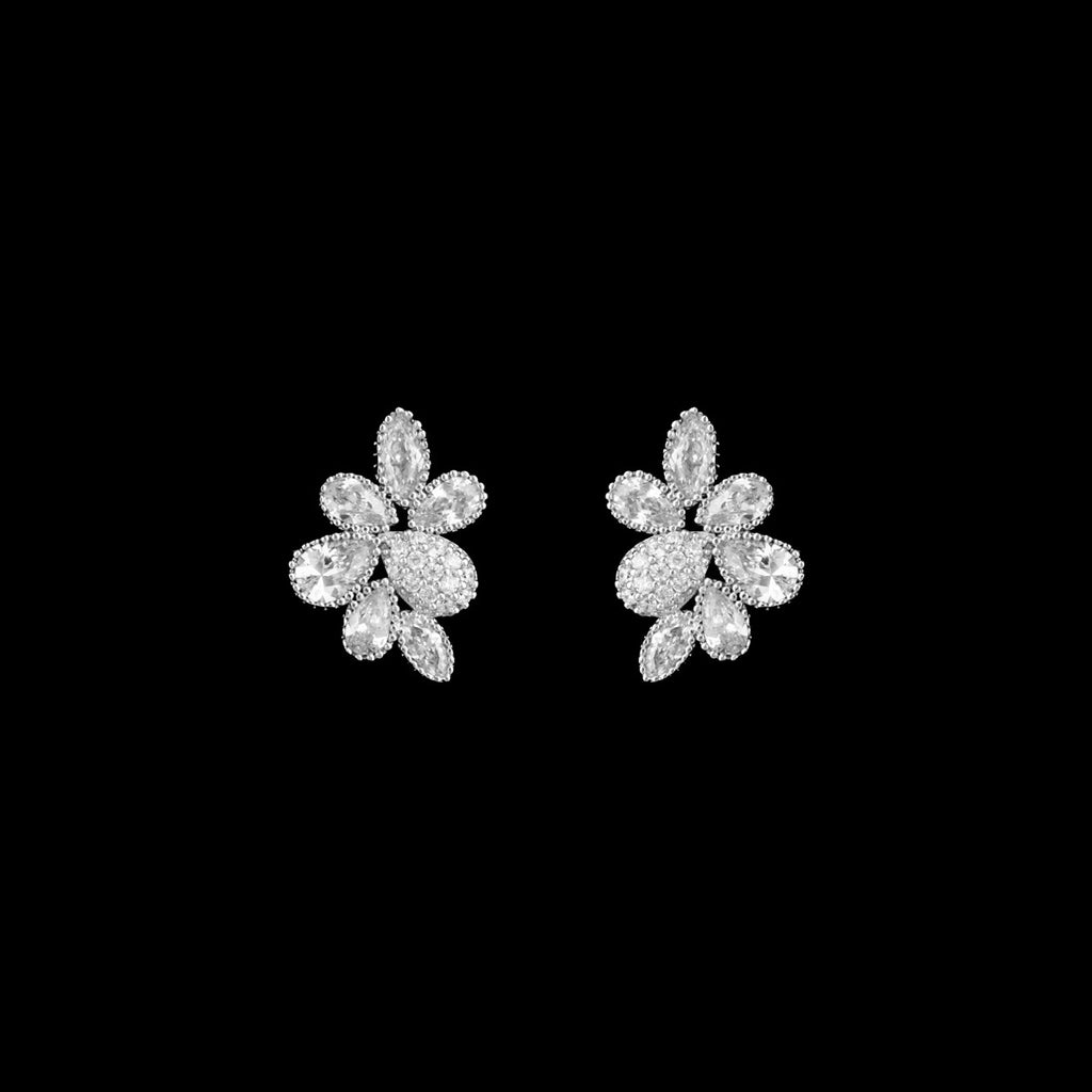 CZ Cluster Earrings JS-0275