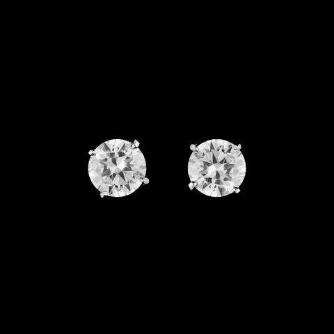 CZ Round Stud Earrings ME-9988