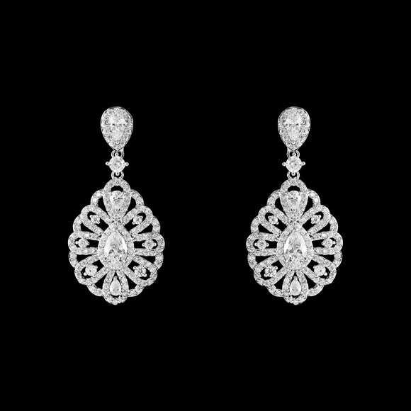 CZ Vintage Dangle Earrings ME-085