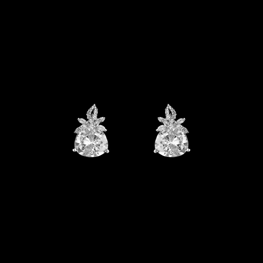 CZ Floral Earrings ME-2755