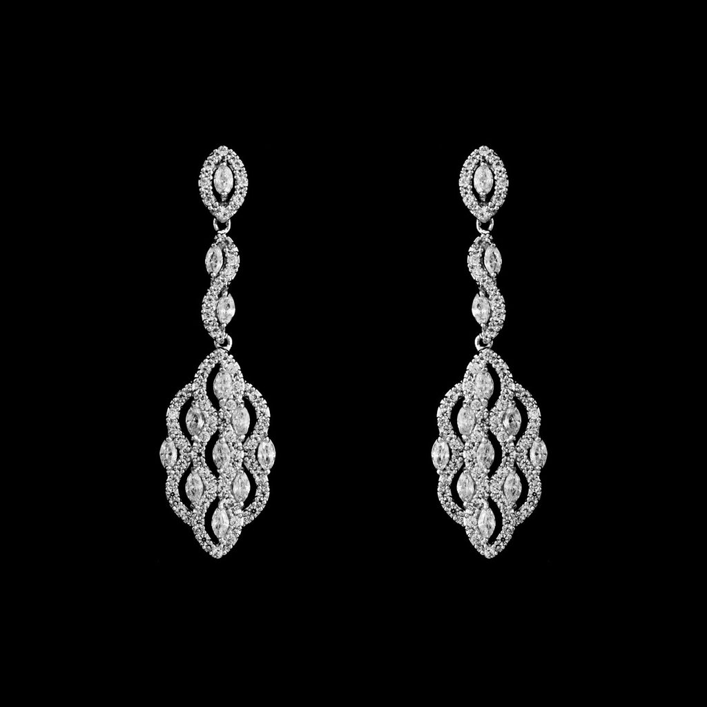 CZ Dangle Earrings ME-3633