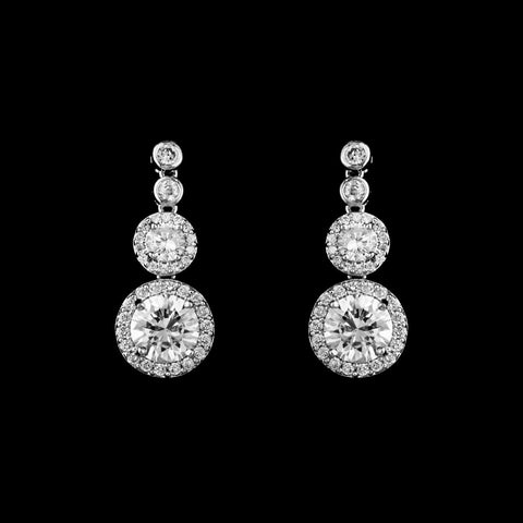 CZ Round Dangle Earrings ME-3781