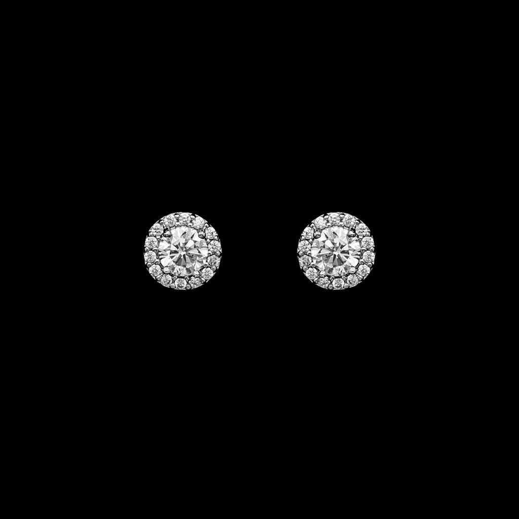 CZ Small Round Earrings ME-3820