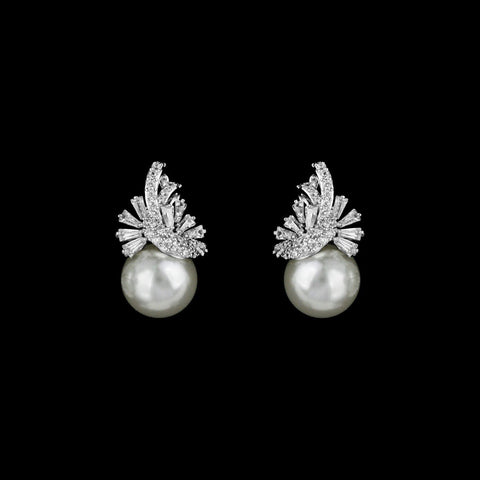 CZ and pearl Earrings ME-3924
