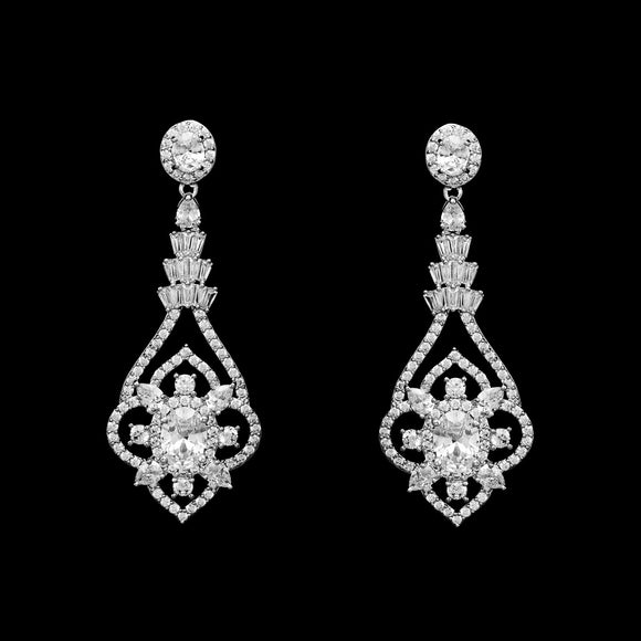 CZ Vintage Dangle Earrings ME-4006C
