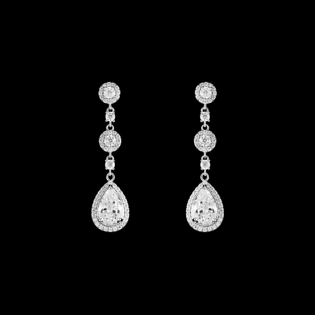 CZ Dangle Earrings ME-4304