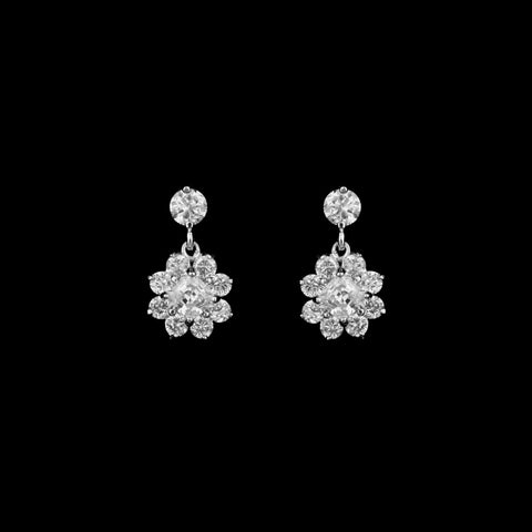 CZ Flower Earrings ME-4971