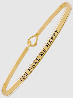 You Make Me Happy Bangle Bracelet 61-B4255-GD