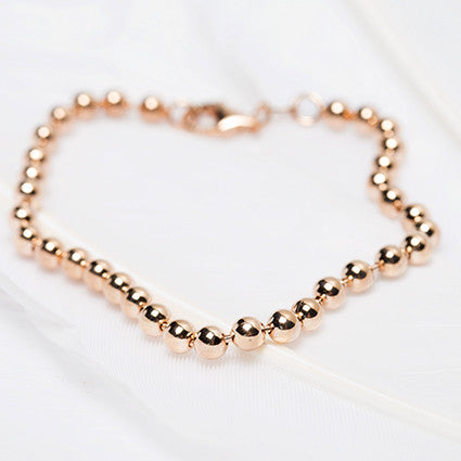 Rose Gold Ball Chain Bracelet was $77