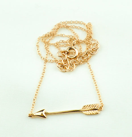 Arrow Necklace Rose Gold was $29