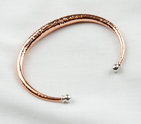 Copper and Silver Bangle was $79.50
