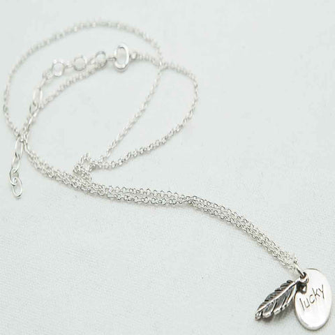 Lucky Feather Necklace