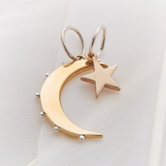 Moon and Star Charms