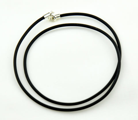 Rubber Necklace Black