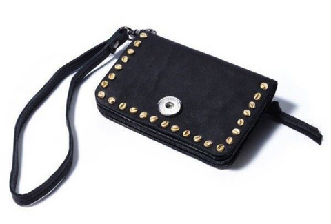 Nivkh small flap wallet in washed black was $139