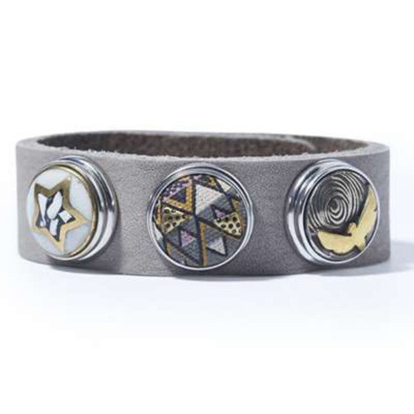 Light Grey Wrap Bracelet