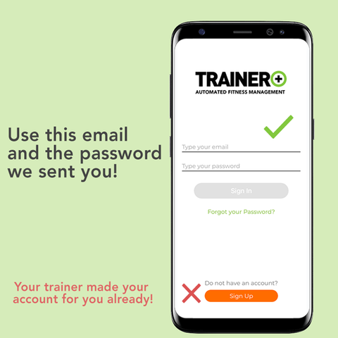Visual of portion of email invitation for TRAINER+