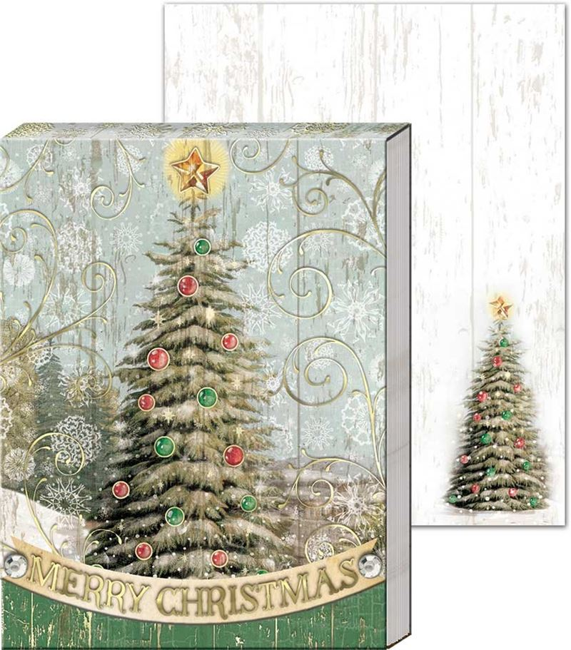 Rustic Christmas Tree - Pocket Notepad