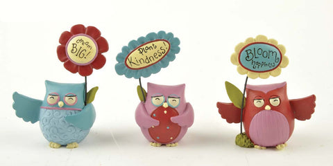 Ruffle your Feathers ~Set of 3 Wise Owls