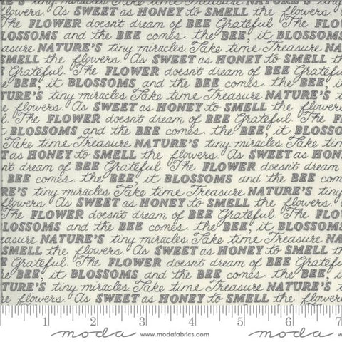 Bee Grateful ~Sweet Words~ Dove Grey