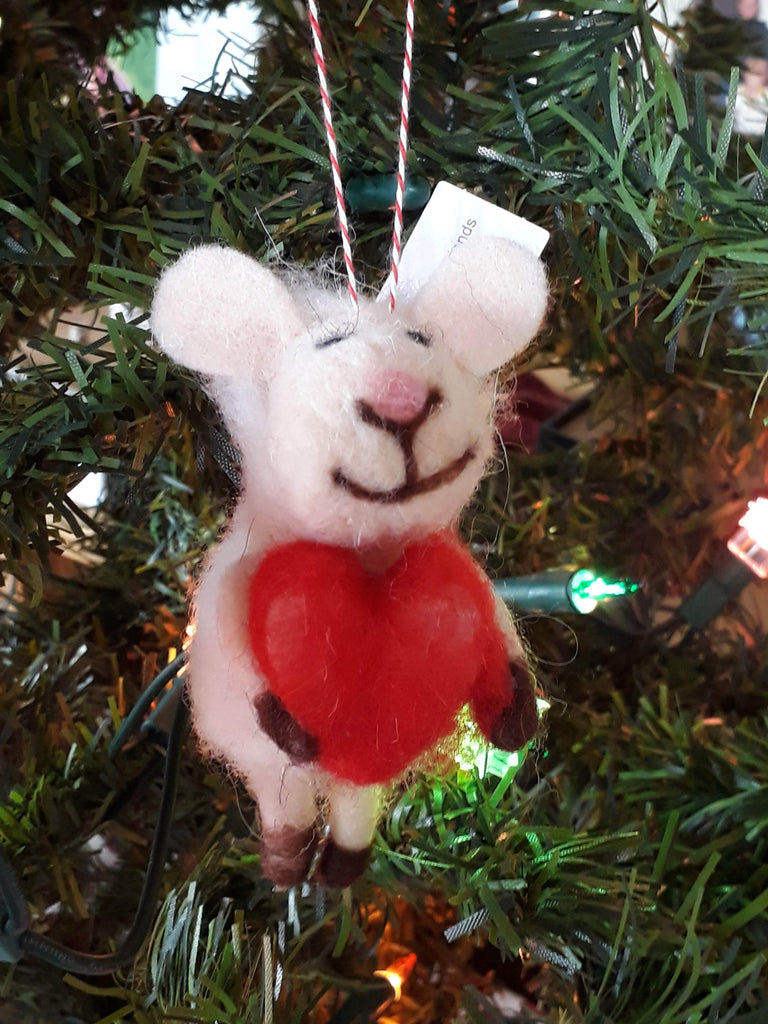 """Zeke"" the Sheep ~hanging ornament ~"