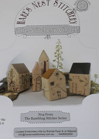 Hare's Nest Stitchery  ~ The Stitchery Village ~ Curated Kit & Pattern
