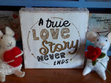 Love Story ~  block sign