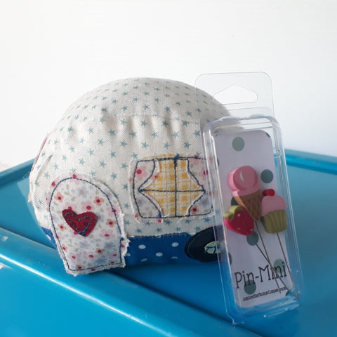 Monthly Punnet Project February ~ Happy Camper Pincushion