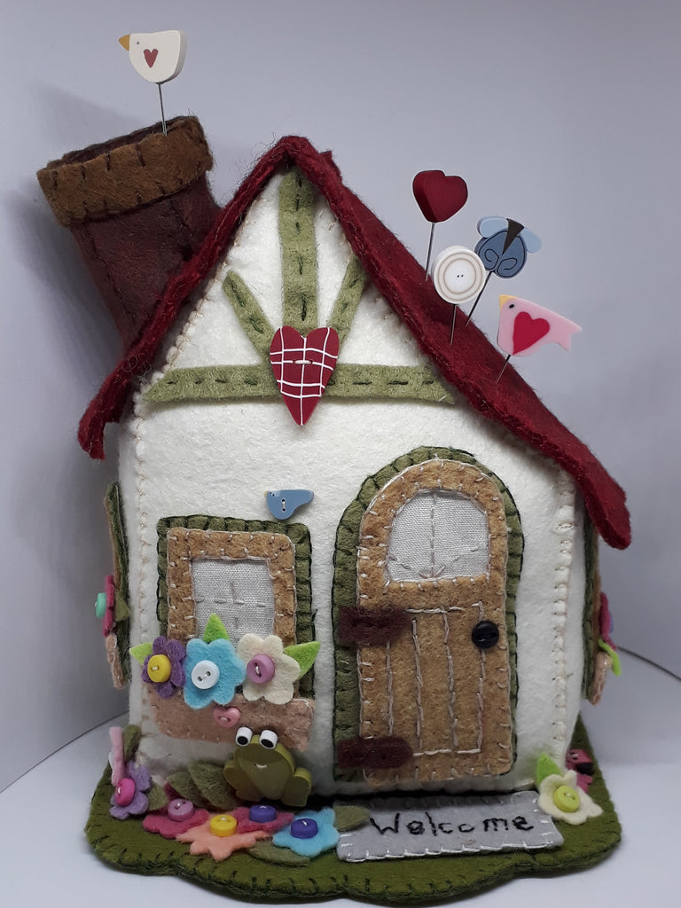 Monthly Punnet Project ~ March~ Storybook Cottage Pincushion ~