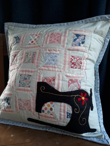 "Monthly Punnet Project ~ July~""Sewing & Spools"" Cushion Pattern & Kit"