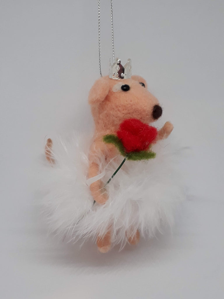 Rose Mouse ~ hanging ornament